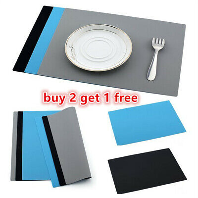 £3.99 • Buy Silicone Table Mat Heat Resistant Waterproof Non-Slip Desk Pad Placemat UK