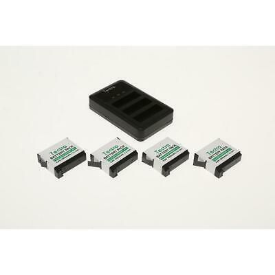 $ CDN23.08 • Buy Tectra 4-Pack GoPro Hero 4 Replacement Battery  LED 3-Slots USB Charger 1404182