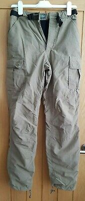 £18 • Buy Land Rover Khaki Thermal Lined Cargo Trousers - Womens XS