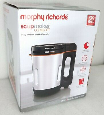 £44.94 • Buy Morphy Richards 501021 Compact Soup Maker Blender Stainless Steel 1 Litre 1000W