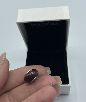 £18.74 • Buy Authentic Pandora Brown Wood Charm Bead Sterling Silver 925 ALE