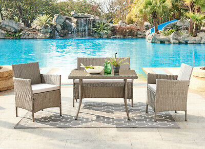 £299.99 • Buy Rattan Garden Furniture Dining Set Conservatory Patio Outdoor Table Chairs Sofa