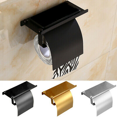 AU27.88 • Buy Wall Mounted Bathroom Toilet Paper Holder Rack Tissue Roll Stand Shelf