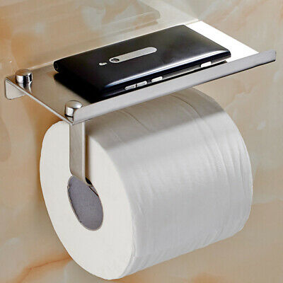 AU15.79 • Buy Wall Mounted Toilet Paper Holder Rack Tissue Roll Stand Stainless New