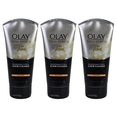 AU19 • Buy 3x Olay 150ml 7-in-One Total Effects Face Skin Care Facial Citrus Scrub Cleanser