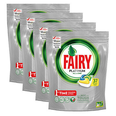 AU49.95 • Buy 148pc Fairy Platinum All-In-One Dishwashing Tablets Cleaning Dish Tabs Lemon
