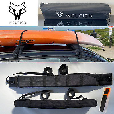 £32.99 • Buy Soft Padded Kayak / Canoe / SUP Roof Rack / With 5 X Quick Release Straps & Bag