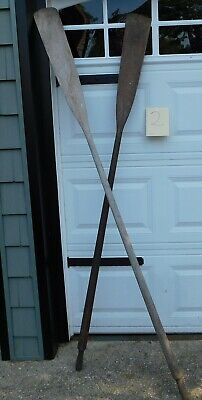 £72.72 • Buy Vintage Weathered Wooden Oars Mismatched Pair 77  Perfect Decor