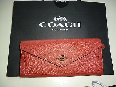 £26 • Buy Coach Wallet In Dark Red Leather.