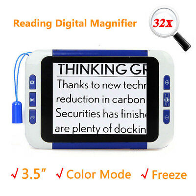 £67.38 • Buy 3.5  Intelligent Electronic Low Vision 2-32x Magnifier Reading Aid Helping