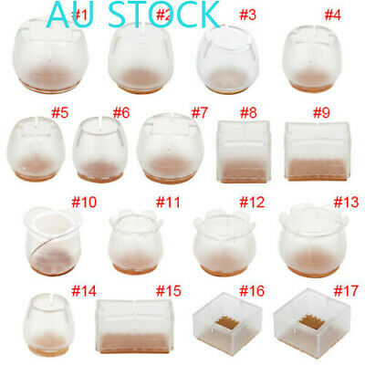 AU13.44 • Buy 10x Silicon Furniture Leg Protection Cover Table Chair Feet Floor Protector*Cap