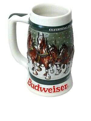 $ CDN25.69 • Buy 1982 Budweiser 50th Anniversary Clydesdale's Holiday Beer Stein Mug 1933-1983