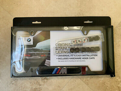 $95 • Buy Genuine BMW Carbon Fiber M License Plate Frame Comes With Screw Cover  Caps