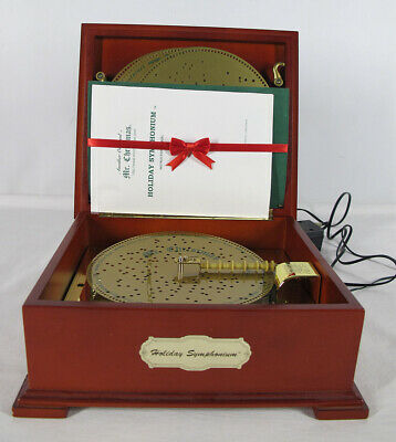 $ CDN53.44 • Buy Mr. Chirstmas Holiday Symphonium Music Box With 16 Discs WORKS GREAT! Yqz