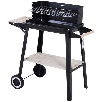 £176.99 • Buy Bbq Trolley Barbecue Charcoal Grill Summer Outdoor Garden Patio Cooking Wheels