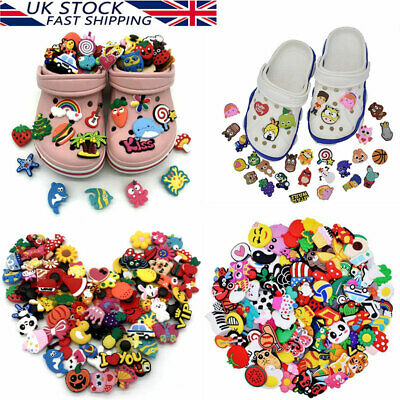 £5.99 • Buy 50/100Pcs Random Different Cartoon Cute PVC Shoes Charms For Crocs&Wristbands LY