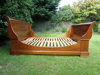 £95 • Buy AND SO TO BED 6ft SUPER KING CHERRY SLEIGH BED / FRENCH ANTIQUE STYLE