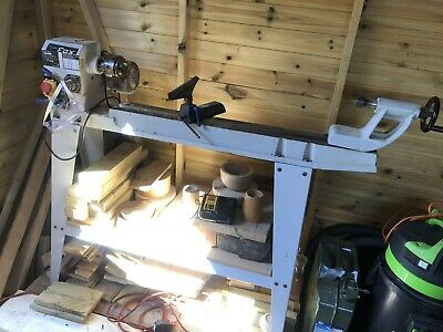 £350 • Buy Fox Woodturning Lathe, Chuck & Robert Sorby Chisels