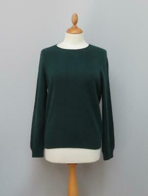 £29.99 • Buy M & S Collection 100% Pure Cashmere Bottle Green Crew Neck Jumper 12