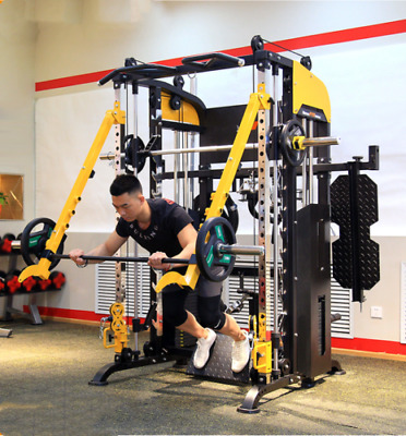 $ CDN3036.36 • Buy Smith Machine Multi Functional Barbell Rack Squat Wave Trainer Fitness Home Gym