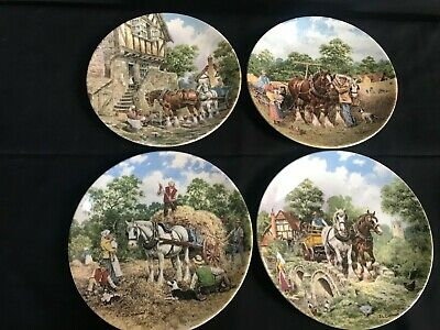 £8 • Buy Wedgewood Life On The Farm Plates With Certificates Of Authenticity.
