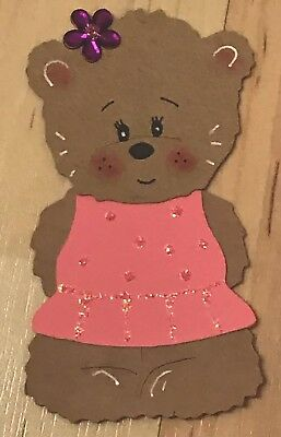 £1.50 • Buy 4x Made Boo Bear Die Cut Card Toppers For Mothers Day Birthday Female