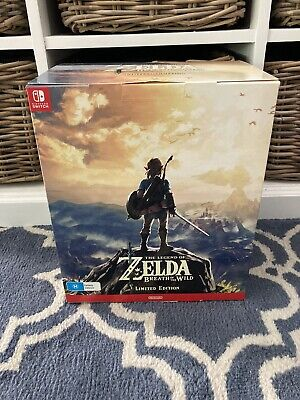 AU399 • Buy Zelda Breath Of The Wild Limited Edition BRAND NEW Nintendo Switch Game