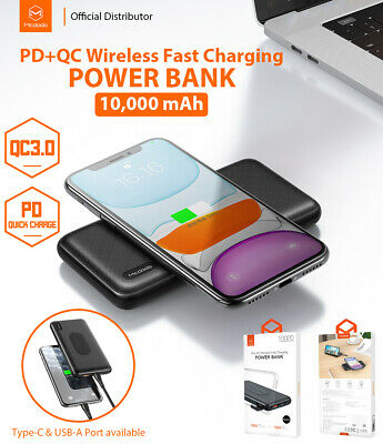 AU39.90 • Buy MCDODO Power Bank 10000mAh QC Fast Charger With USB / Type C / Wireless Charging