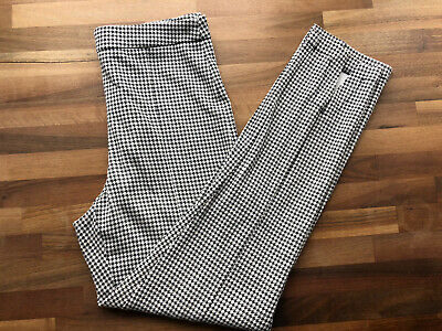 £5 • Buy Dogtooth Cropped Slim 40s 50s Pencil Trousers S Black White
