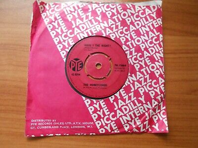 £1.80 • Buy The Honeycombs  Have I The Right?  7  Vinyl Single 45 Rpm