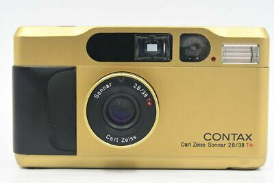 $ CDN1821.81 • Buy [Top MINT In Case] Contax T2 Gold Point & Shoot Film Camera 2 Straps From JAPAN
