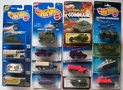 $140 • Buy Hot Wheels Action Command Military #20 159 160 195 Lot Of 16 Variations   1017
