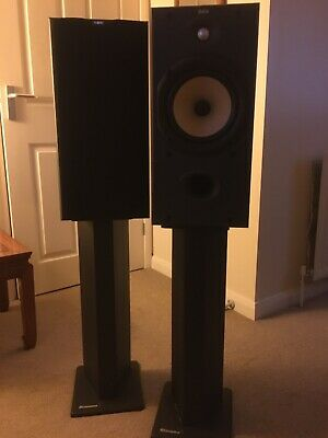 £75 • Buy B&W 600 S2 DM602 2-way 4th Order Vented Box System, Black 2 Speakers Plus Stands