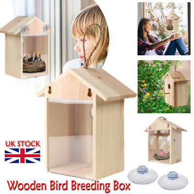 £10.99 • Buy Wooden Bird Breeding Box Cage For Parrot Budgie Nesting House Love Birds Finch