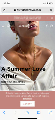 £50 • Buy Astrid & Miyu Chunky Hammered Coin Necklace - Brand New In Box - Rrp £115.00