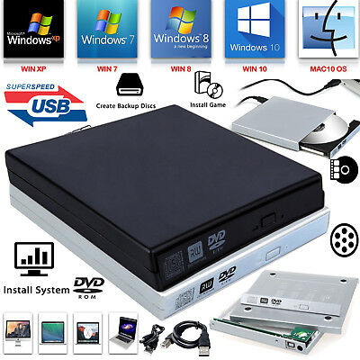 £7.85 • Buy External Laptop PC USB To SATA DVD CD Rom RW Drive Caddy Case Cover Enclosure UK