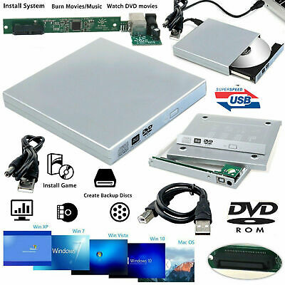 £7.99 • Buy External Laptop USB 2.0 To IDE RW CD DVD Rom COMBO Drive Caddy Case Casing Cover
