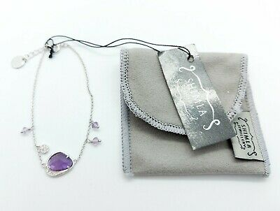 £12.99 • Buy SHIMLA Sterling Silver Bracelet With Purple Stones Excellent Condition