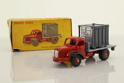 £48.99 • Buy Dinky France 34-B; Berliet Truck & Container; Red Grey, Picture Box; Good Boxed