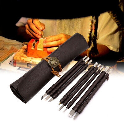 £13.99 • Buy 8X Stone Carving Kit Tungsten Steel Sculpting Set Carbide Hand Chisel Tool & Bag
