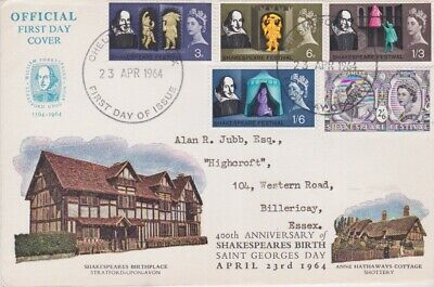 £1.24 • Buy Gb Stamps First Day Cover 1964 Shakespeare Chelmsford Rare Collection