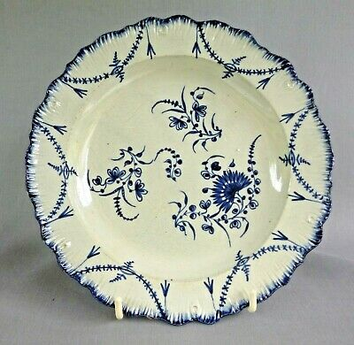£46 • Buy Blue Painted Pearlware Plate,  Excellent Quality & Condition C.1780's
