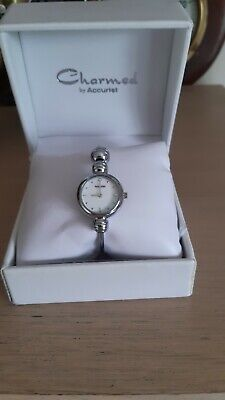 £20 • Buy Ladies Silver Plated CHARMED BY ACCURIST  Quartz Bracelet Watch