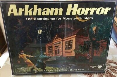 £104 • Buy Arkham Horror The Board Game For Monster Hunters 1987 Chaosium Inc - Sealed N/r!
