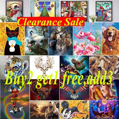 £4.99 • Buy Clearance Sale Full Drill 5D Diamond Painting Kit Embroidery Cross Stitch Kit