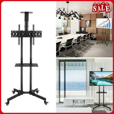 £49.99 • Buy Mobile TV Floor Stand Mount Holder Lifting Trolley Bracket Tray Wheel For 32-70