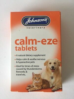 £4.95 • Buy Johnson's Veterinary CALM-EZE - NATURAL Calming For Cats & Dogs  Thunder Travel