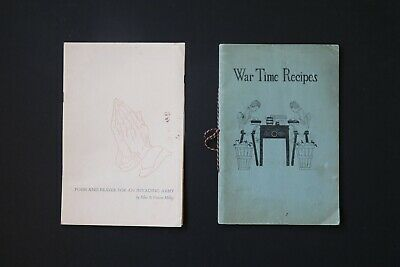 £33.98 • Buy World War Memorabilia: War Time Recipes And Poem/Prayer For An Invading Army