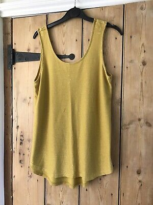 £0.99 • Buy Next Size 12 Mustard Yellow Sparkly Vest Top