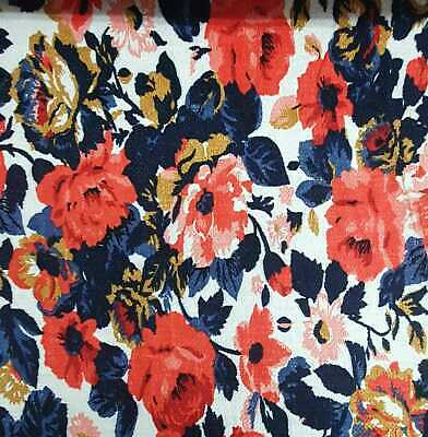 £4.99 • Buy 40  WIDE Floral Ponte Roma Knit Dress Fabric Material Premium Fabric